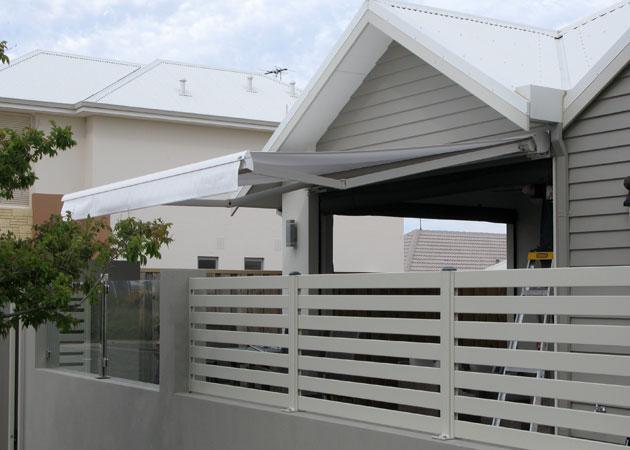 Folding Arm Awning - Mandurah | Awnings Perth, Commercial ...