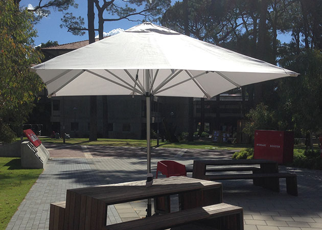 Curtin University Umbrellas Awnings Perth Commercial