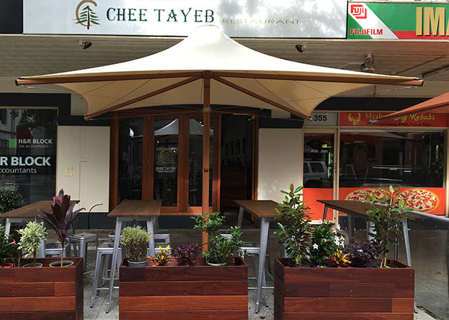 Architectural Commercial Umbrella Awnings Perth
